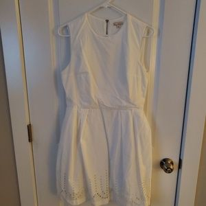 White eyelet dress with pockets
